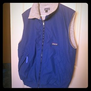 Patagonia blue fleece lined vest